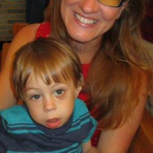 Kate holds Lucas, three weeks prior to transplant.
